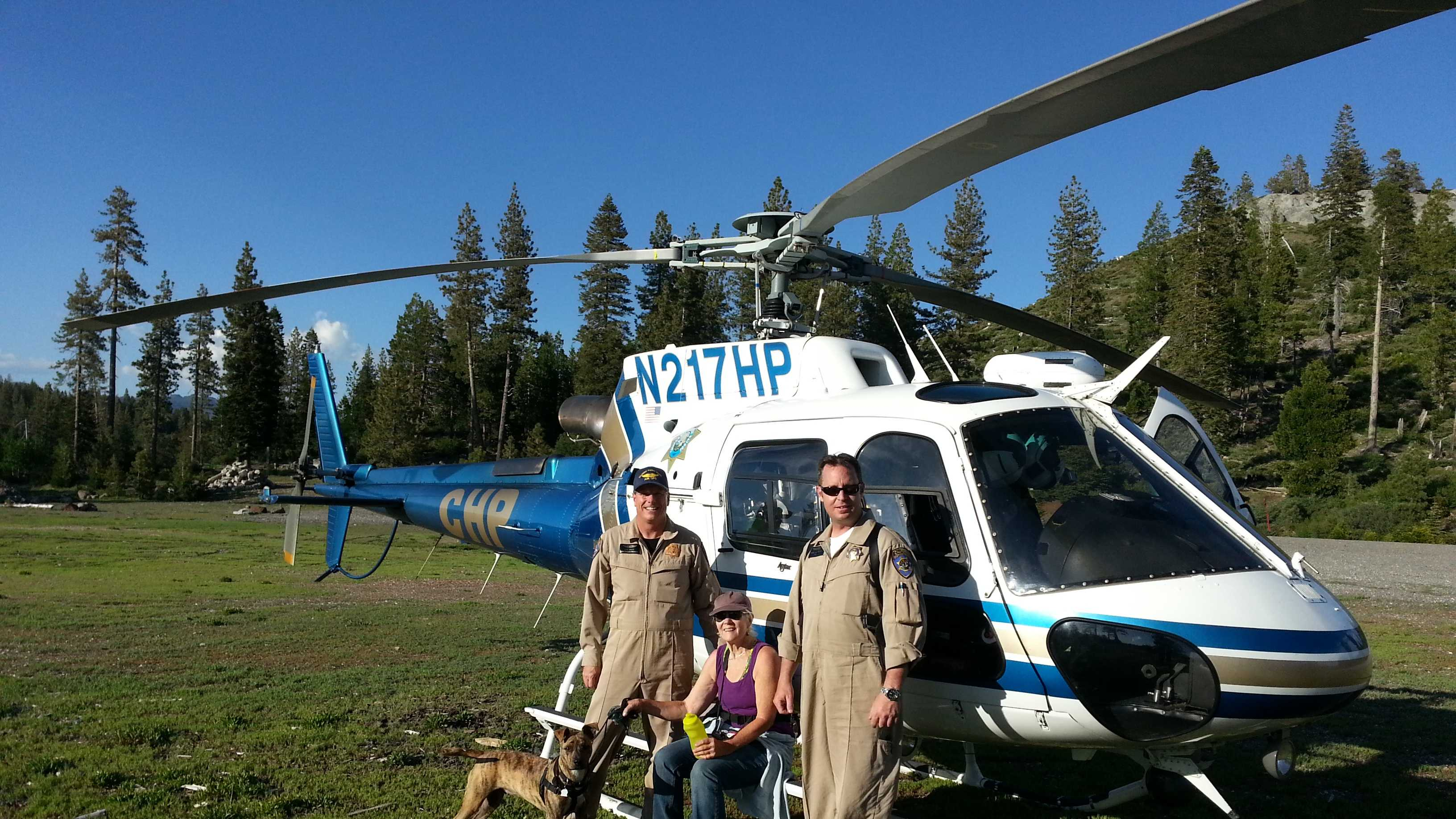 CHP helicopter rescue