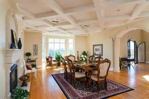 The home also has two large rotunda octagon shape rooms in the east and west wings.