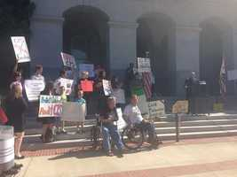 Families and other supporters ask lawmakers Wednesday at the State capitol to conduct an audit of Child Protective Services.