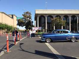 A parade was held in Modesto on Friday to mark the 40th anniversary of the movie American Graffiti.