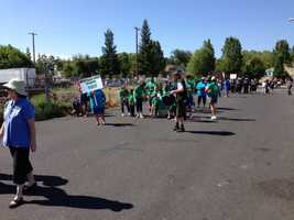 Sacramento's Loaves and Fishes homeless charity celebrated its 30th anniversary Wednesday with a parade and celebration.
