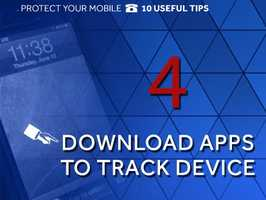 "Activate a tracking device: ""Find my iPhone"" is a free app for iPhone, iPad, iTouch and Macs that allow the user to track a lost iOS device using another iOS device. The user can lock the phone, erase all the cell's data and locate the device using GPS."