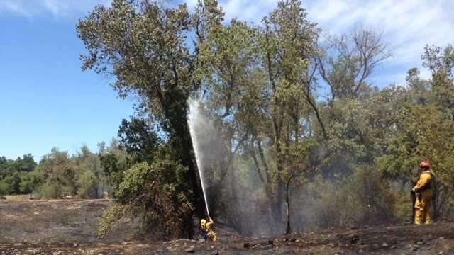 A fire at Rossmoor Park (June 14, 2013)