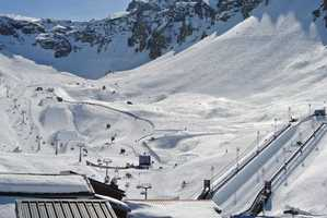 Course built by SPT in Tinges, France for the European Winter X Games.