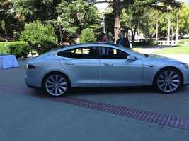Tesla's new electric vehicle draws plenty of interest.