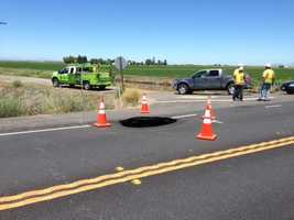Motorists travelling along Highway 113 in Sutter County will be limited to one-way traffic after a sinkhole opened up on Riggins Road.