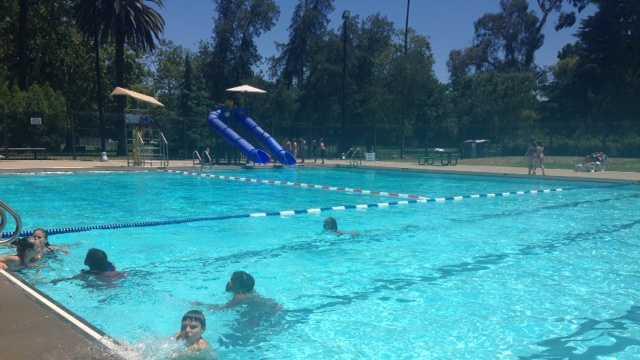 Children swimming at McKinley Park's Clunie Pool. (June 27, 2013)