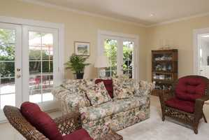 This home has four bedrooms and includes this living area.