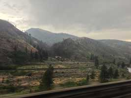 Rain came down in the Sierra on Tuesday evening (July 2, 2013).
