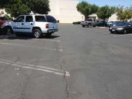 Parking lot surface: 144 degrees