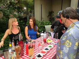 Ink Eats and Drinks makes some Fourth of July cocktails on the KCRA 3 patio. (July 4, 2013)