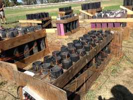 The fireworks are ready to go at Cal Expo in Sacramento. (July 4, 2013)