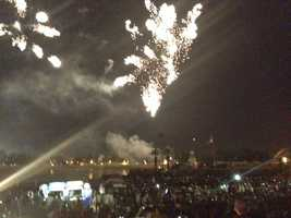 The fireworks show blasts off at Cal Expo.