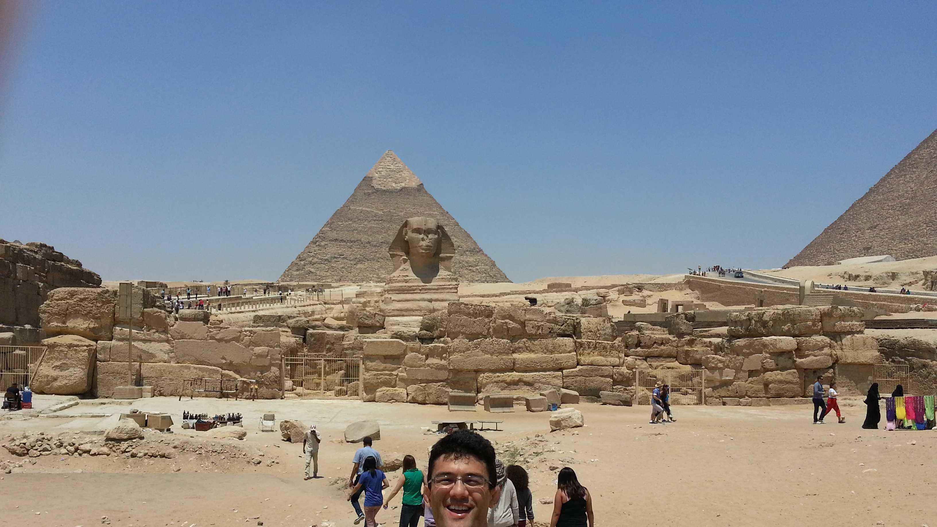 Jonny Goh, a UC Davis history major, recently returned from Egypt.