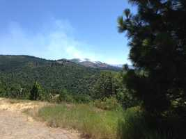 A wildfire on the north side of Highway 50 in El Dorado County was 80 percent contained Wednesday.