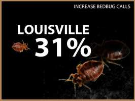 Louisville experienced a 31 percent increase in calls.