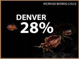 Denver experienced a 28 percent increase in calls.