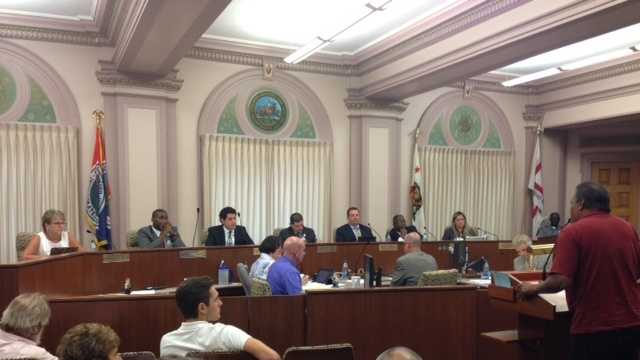 Inside the Stockton City Council meeting on Tuesday evening (July 9, 2013).