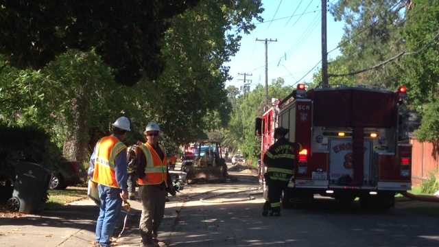 Reports indicate that the odor of gas is strong in the area near Bear Flag Way.