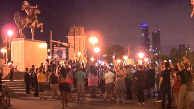 Zimmerman trial protest in Chicago