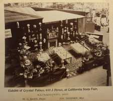 "This Crystal Palace Pottery Exhibit won an award for ""Best display of ornamental statuary"" and ""Best display of lamps,"" in the late 1800s when it debuted at the fair."