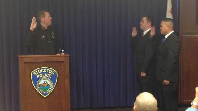 Stockton swearing-in ceremony