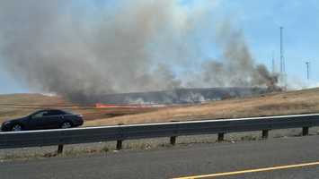 A fire charred 163 acres in the Folsom-El Dorado Hills area on Friday. (July, 19, 2013)