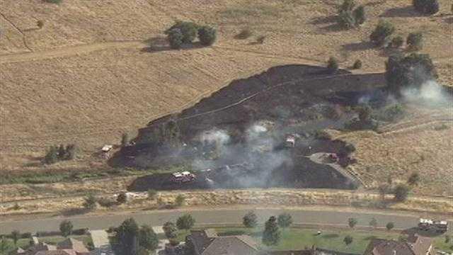 South Sacramento County grass fire