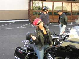 Riding is all about attitude. Here I am posing on my dad's bike in Ventura.