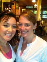Riders and friends for life. Erin Anderson and me at 6 a.m. on a Saturday morning getting some coffee before heading to class.