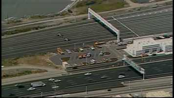 A package deemed suspicious by the CHP near the Treasure Island on-ramp left the Bay Bridge emptied and westbound travelers sitting in traffic.