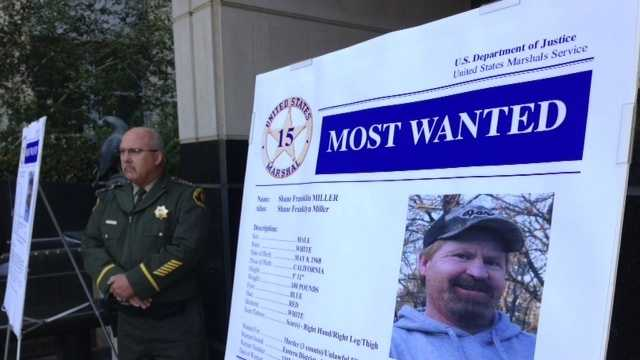 U.S. Marshals announce Shane Miller was added to the 15 Most Wanted fugitives list Tuesday.