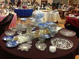 "Divine Savior Church is celebrating 20 years of hosting the annual ""Treasure Fest"" rummage sale."
