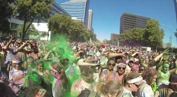 Armed with a GoPro camera, KCRA 3 viewer Kristen Collins shares these photos from the 2013 Color Run in Sacramento, Calif.