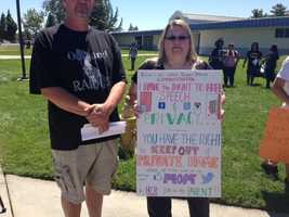 Hundreds of students at Bear Creek High School, in Stockton, are protesting a social media contract that they must sign in order to participate in extra-curricular activities, claiming this is an issue of free speech (Aug. 5, 2013).