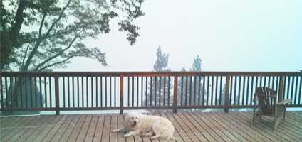 A KCRA Insider snaps a photo from the deck of a home in Codfish Ridge Wednesday morning.