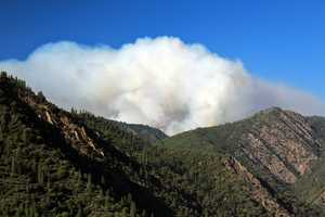A fire near Foresthill grows to nearly 5,500 acres Friday. Take a look at photos from the fire, which ignited nearly a week ago.