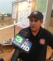 Rocky Opliger, incident commander, said the east side of the fire continues to be a dangerous threat.
