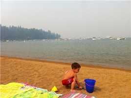 A KCRA Insider sent in this photo of the haze at Zephyr Cove in South Lake Tahoe.