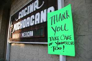 How do you say thank-you to firefighters? The town of Groveland found a way, by making signs.