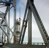 The San Francisco-Oakland Bay Bridge will be closed to traffic starting at 8 p.m. Wednesday in preparation for the opening of the new $6.4 billion eastern span.