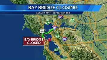Take Interstate 80 to 580 in order to get onto theRichmond–San Rafael Bridge to Highway 101.