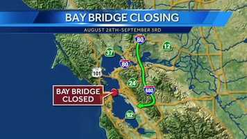The southern route is also an option. Take Interstate 680 to 580 to the San Mateo Bridge to Highway 101.