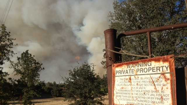 The portion of the fire in Yosemite doubled to about 64 square miles but remained in backcountry, and the main attractions in the nearly 1,200-square-mile park remained open.