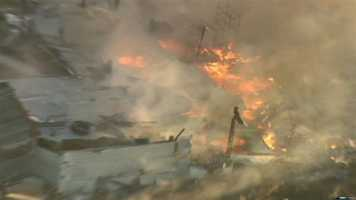 A home in an open area in Dixon caught fire early Wednesday morning.