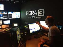 Here is look inside the control room -- the technical hub at KCRA. KCRA 3 director Doug Holdren is issuing commands during the newscast.