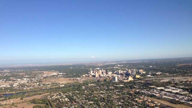 Aerial shot of Sacramento