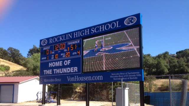 Rocklin High School scoreboard