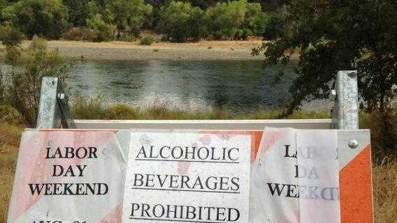 American River alcohol ban