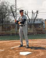 12. In high school baseball, I had a grand slam declared a three-run triple because I high-fived a teammate before touching home plate. I'm still bitter about it. For the record, I did have one other varsity grand slam. This picture is circa 1989.